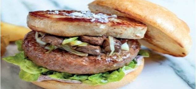 Hamburger with truffle and foie